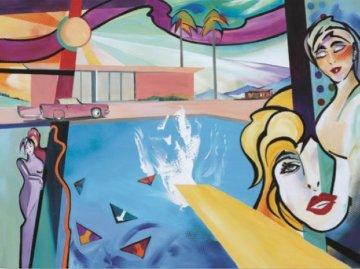 Hommage to David Hockney's Big Splash 2018 Limited Edition Print by Alfred Gockel
