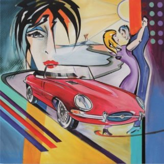 Nostalgic Dream Jaguar F-Type 2018 Limited Edition Print - Alfred Gockel