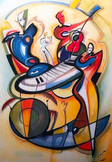 Play It Again 2004 w Remarque Limited Edition Print by Alfred Gockel