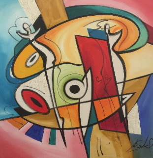 Untitled Painting 2006 39x39 Original Painting - Alfred Gockel