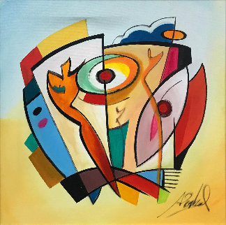 One Tin Soldier 2005 39x39 Original Painting by Alfred Gockel