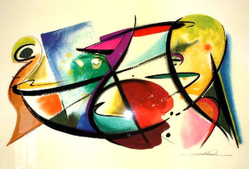 Play Off 3-D 60x44 Super Huge Original Painting - Alfred Gockel
