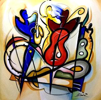Encore 2000 57x57 Original Painting - Alfred Gockel