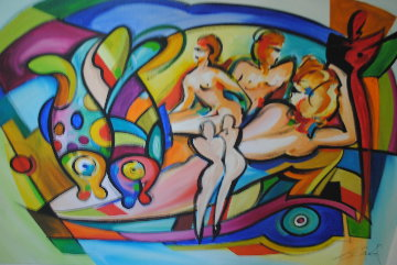 Pisces 2005 52x68 Original Painting by Alfred Gockel