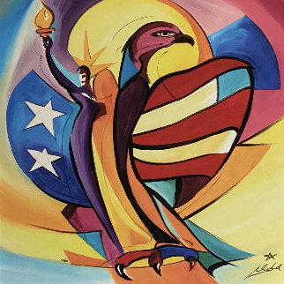 Liberty Bird 2006 Embellished Limited Edition Print by Alfred Gockel