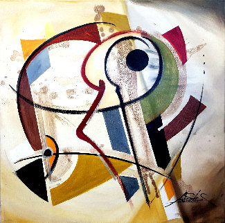 Key to Remember 2016 32x32 Original Painting - Alfred Gockel