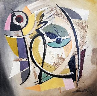 I Feel Free 2016 31x31 Original Painting - Alfred Gockel