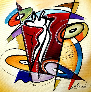 Rhythm & Time 2016 41x41 Original Painting - Alfred Gockel