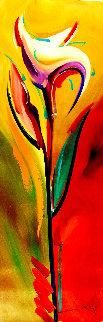First Spring 2016 47x16 Original Painting - Alfred Gockel