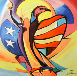Liberty Bird 2006 Embellished Limited Edition Print - Alfred Gockel