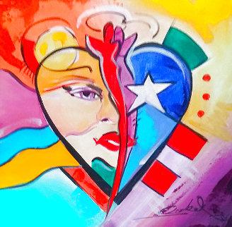 Heart 2012 12x12 Original Painting - Alfred Gockel
