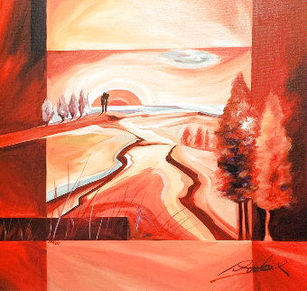 Red River Sunset 2006 Limited Edition Print - Alfred Gockel