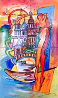 Anniversary Gift 2012 84x54 Super Huge Original Painting - Alfred Gockel