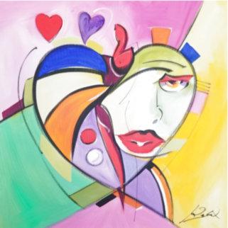 Heart Felt Original 2005 32x32 Original Painting - Alfred Gockel