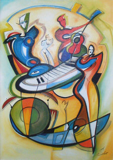 Play It Again 2004 Remarque 44x30 Super Huge  Limited Edition Print - Alfred Gockel