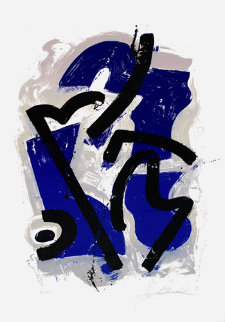 Guy with the Blue Helmet Limited Edition Print - Alfred Gockel
