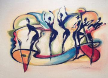 Staying in Rhythm 23x31 Original Painting - Alfred Gockel