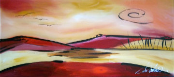 Red Desert 2006 29x46 Original Painting - Alfred Gockel