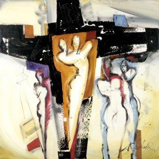 Mystic Lovedance 2012 31x31 Original Painting by Alfred Gockel