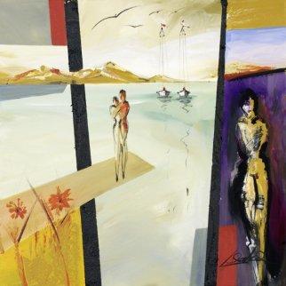 Love Perspective 2011 24x24 Original Painting by Alfred Gockel