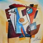 Lord of the Flies 2006 32x32 Original Painting - Alfred Gockel