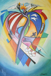 USOC Olympic Celebration  Limited Edition Print by Alfred Gockel
