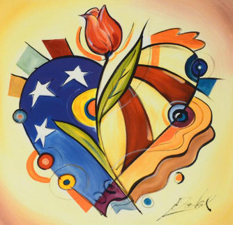 Red, White And Rose Limited Edition Print by Alfred Gockel
