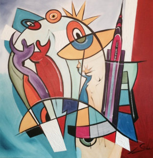 Untitled Painting 2005 39x39 Original Painting - Alfred Gockel