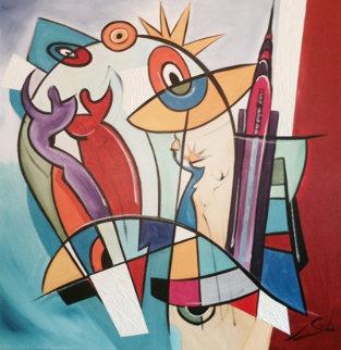 Untitled Painting 2005 39x39 Original Painting - Alfred Gockel