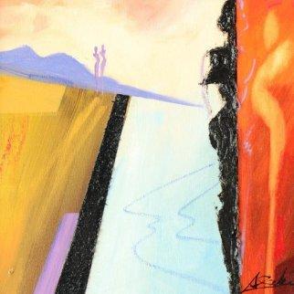 Revelations 21x21 Original Painting - Alfred Gockel