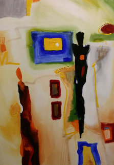 A Restless Night Passed 2001 39x27 Original Painting - Alfred Gockel