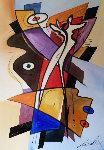 Our Embrace V 2007 37x49 Original Painting - Alfred Gockel