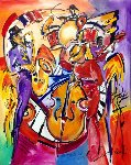 Boney James and Friends 2011 62x50 Original Painting - Alfred Gockel