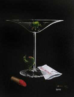 Mystery Martini 2002 Limited Edition Print - Michael Godard