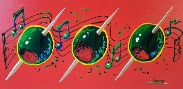 Musical Olives 30x60 Huge Original Painting - Michael Godard