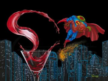 Super-Tini AP Embellished 2014 Limited Edition Print by Michael Godard