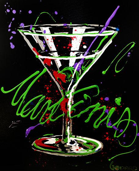 Untitled Martini (MB 25) 30x24 Original Painting by Michael Godard