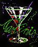Untitled Martini (MB 25) 30x24 Original Painting by Michael Godard - 0