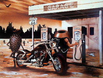 Historic Route 66 2012 Embellished Limited Edition Print by Michael Godard