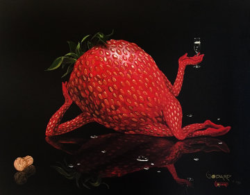 Sexy Strawberry 2006 Limited Edition Print - Michael Godard