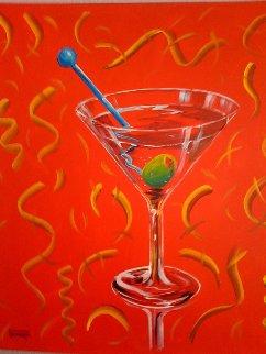 Red Martini 2002 24x24 Original Painting by Michael Godard