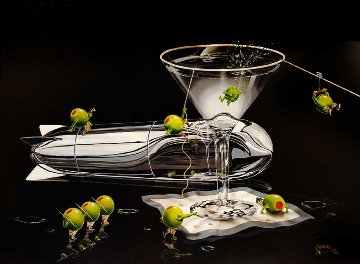 Martini Training I and II AP 2012 Limited Edition Print by Michael Godard