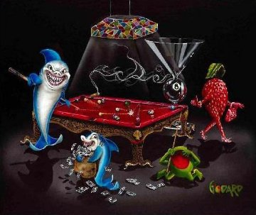 Pool Sharks 3 All In 2009 Limited Edition Print by Michael Godard
