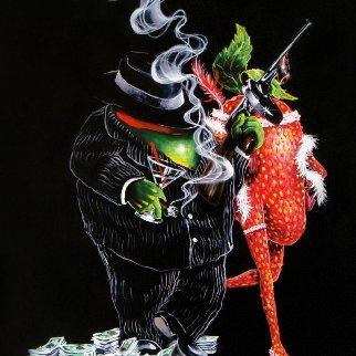 Gangster Love Embellished 2018 Huge Limited Edition Print - Michael Godard