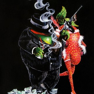 Gangster Love Embellished 2018 Limited Edition Print by Michael Godard