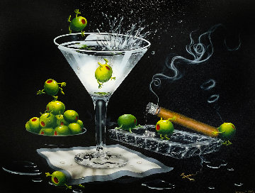 Olive Party II 2009 Limited Edition Print by Michael Godard