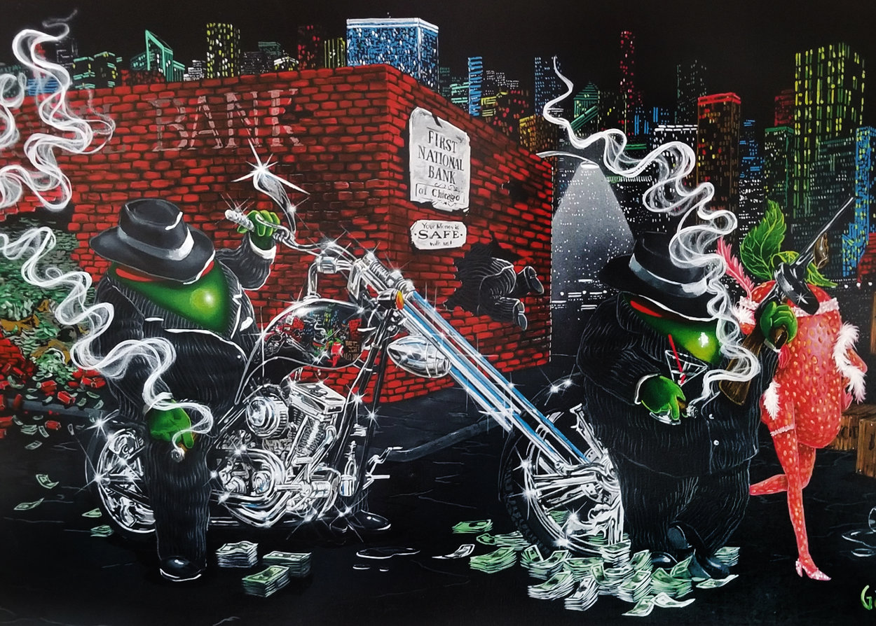 Gangster Chopper Master Highlight 2007 Embellished Limited Edition Print by Michael Godard