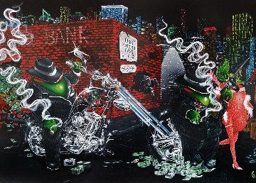 Gangster Chopper Master Highlight 2007 Embellished Limited Edition Print by Michael Godard