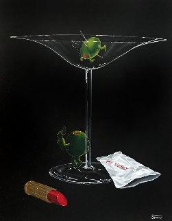 Mystery Martini 2002 30x24 Original Painting - Michael Godard