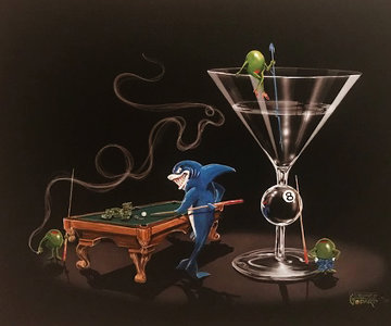 Pool Shark 2 - Empty Pockets 2004 Limited Edition Print - Michael Godard